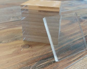 Acrylic Blank Square 2.25inch x 2.25inch  1/4inch thick