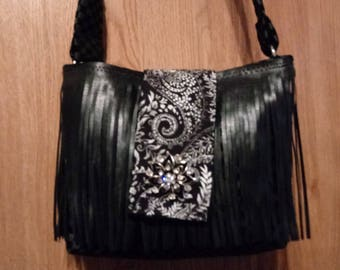 Studded Fringe purse-shoulder bag