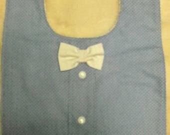 Baby boy bow tie bib