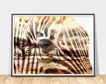Zebra Wall Art - Animal Print, African Zebra Art, Savannah Animal, Zebra Art Print, Zebra Stripes Print, African Animal Art, Modern Prints
