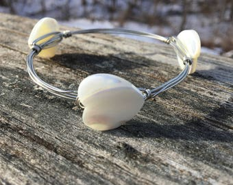 Heart Mother of pearl Bracelet
