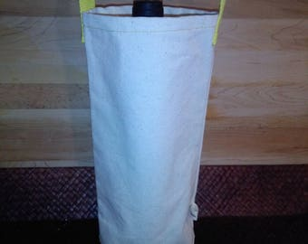 Organic canvas wine bag