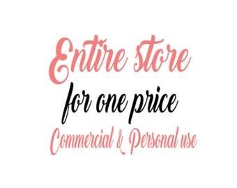 100 svg Whole entire store svg   svg  . Digital file . Bundle svg