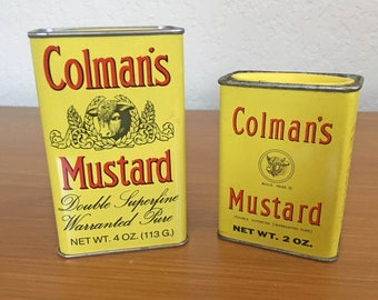 Vintage Colman's Mustard Tins - Set of 2