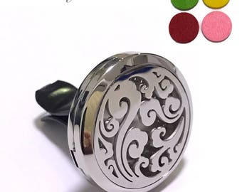 Stainless Steel Aromatherapy Essential Oil Diffuser Car Air Freshener