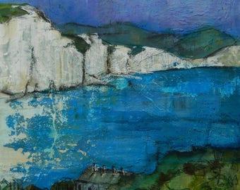 Original painting 'White Cliffs'