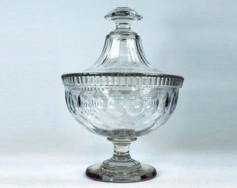 19th Century Glass Preserve Jar