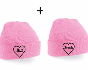 Best Friends Couple Beanies - Beanie Set, Beanies, Beanie,Couple Sweatshirts, Couple Shirts,  Couple Gift, Couple Hats, Friend Gift