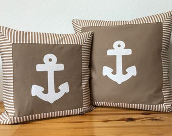 Country style Cushion cover * pillow * beige/white 40x40cm,.
