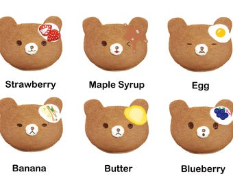 JUMBO/Mini Bear Pancakes Squishy
