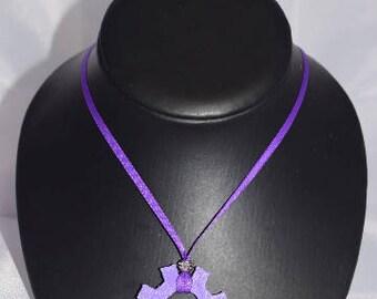 3D Printed Cog Single Ribbon Necklace