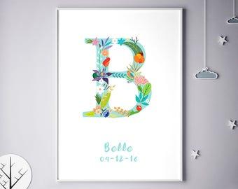 Nursery Decor Print, Decor, Posters For Baby Room, Barbara, Beth, Bailey, Bethany, Brooke, Becky, Children Room Art, Birthday