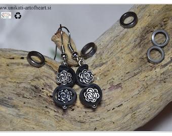 Bicycle Inner Tube Earrings / Recycled Earrings / Eco Friendly Earrings / Upcycled Earring / Gift for Cyclists / Diy Earring / Cuff Earring