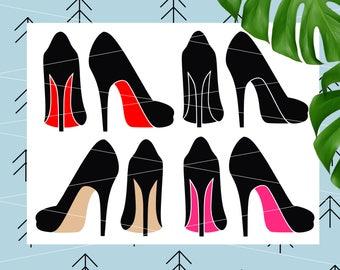 High heels svg Woman shoes Svg Stiletto heels SVG stiletto svg Svg files for Cricut Silhouette svg cut files svg dxf eps png Cricut cut file