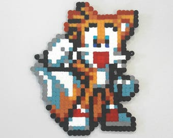 Tails Sonic perler fuse beads