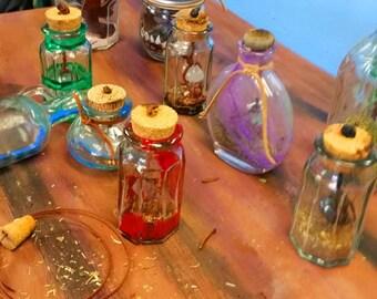 Painted Spell Bottles