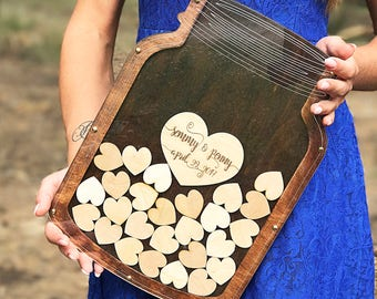Bottle Of Hearts Wedding Guest Book Alternative Bottle