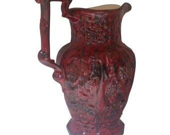 Ruby Red Ceramic Vase
