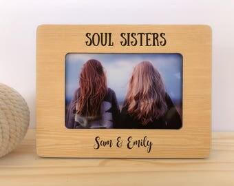 Soul SIster GIFT Frame Personalized Frame Best Friend Gift Long Daitance Frame