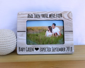 And Then There Were Four Frame Personalized Ultrasound Frame Sonogram Frame Baby Shower Gift Pregnancy Announcement Frame