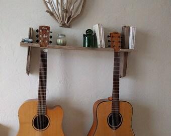 Guitar-worn Driftwood shelf