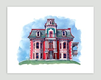 Grand Montreal House – Fine Art Print of Original Watercolour Painting