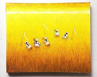 Balinese Oil Painting - Harvest Time