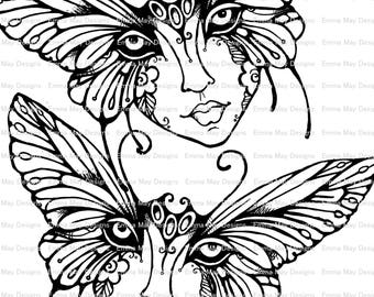 butterfly mask coloring pages | Butterfly mask | Etsy