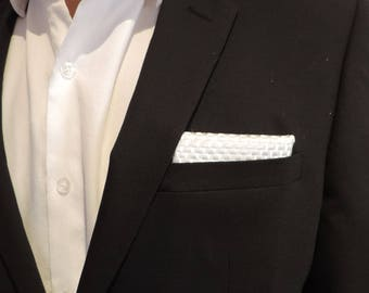 Real Carbon Fiber, or Glass Fiber or Basalt Fabric Pocket Square, Corporate Gifts, Father's Day Gift
