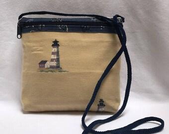 Lighthouse Zippered Shoulder Bag