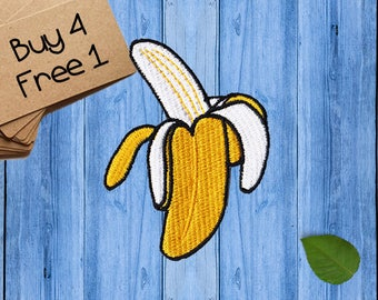 Banana Patches Iron On Embroidered Patches Iron On