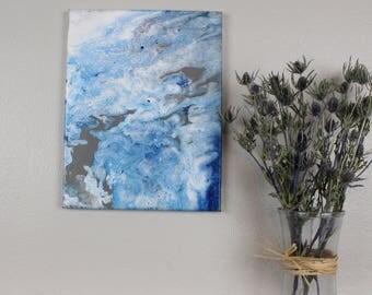 "Acrylic Fluid Painting ""Eridanus"" 11""x14"""