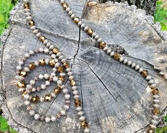 Faux Copper and Baili Faux Silver necklace Set