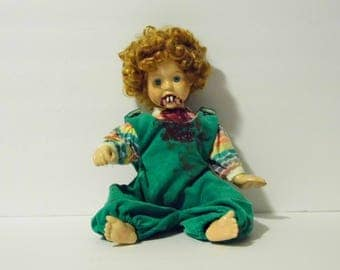 Twilight Annie Demonic Dollie an off main st Original! - Baby Vampire Doll - See shop for more Awesome Scary Dolls!