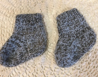 Winter baby socks Hand Knit wool 100%