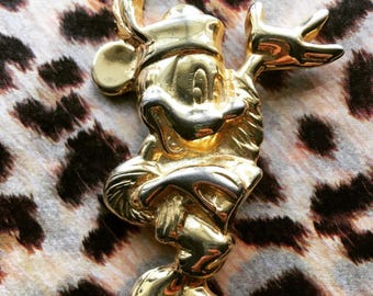 Rare Vintage Wendy Gell for Disney Minnie Mouse Brooch