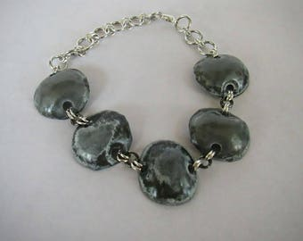 Zinc Patina Dot Chain Bracelet