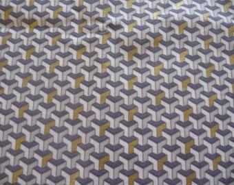 Vintage fashion fabric cotton geometric designs
