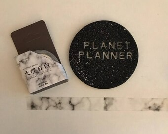 Grey Marble Washi, Gray Marble Washi, Marble Washi, Dark Grey Washi, Gray Washi Tape, Marble Stationery, Marble Planner Washi Tape.