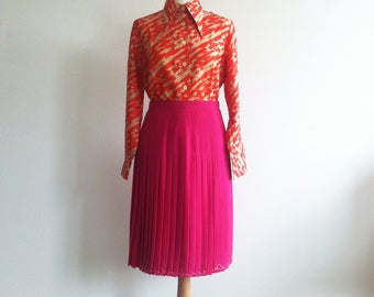 1970 blouse 1980 pleaded skirt Vintage Outfit