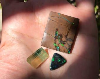 Gorgeous green opals