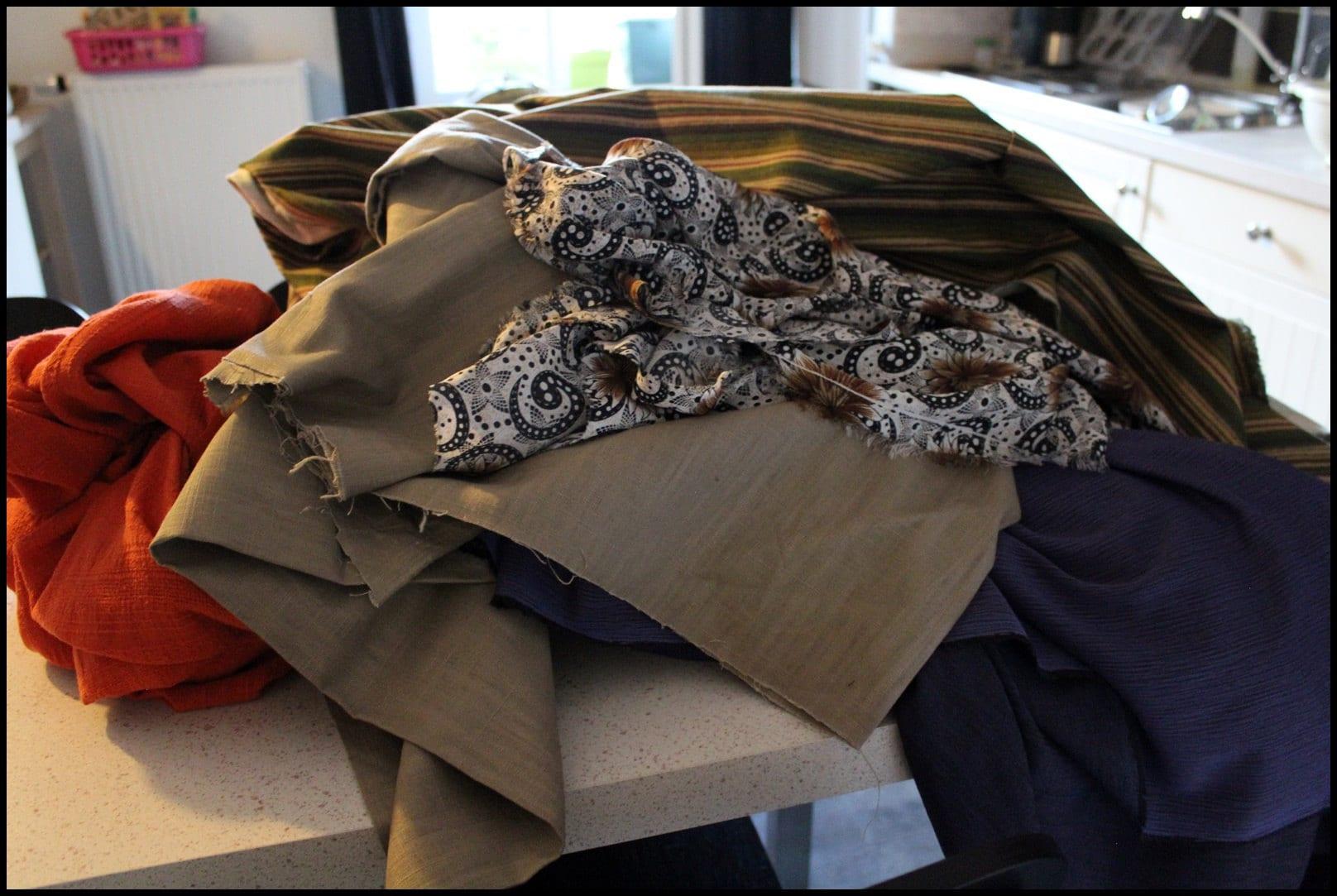 Tissus des commandes en cours - Fabrics of orders in progress