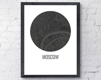 Moscow Map Print, Moscow Russia, City Map, City Map Print, Travel Map, Map Art, Map Poster, Wall Art, Home Decor, Modern, Minimalist