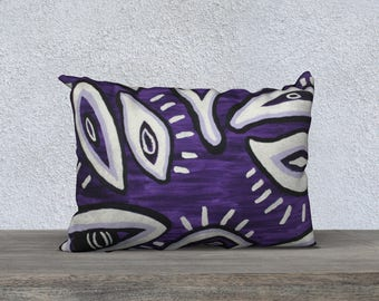 Purple Eyes 2014 Pillow