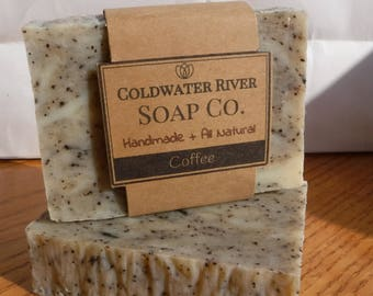 All Natural Exfoliating Coffee Soap