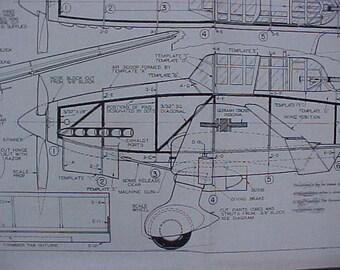 Junkers JU-87B Stuka Model Airplane Plan
