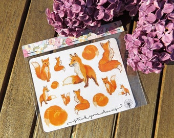 Fox Stickers I Planner Stickers