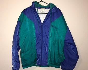 Vintage Adidas Trefoil hooded jacket