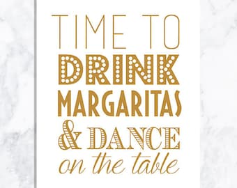 INSTANT DOWNLOAD Margarita sign