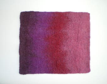 Shades of wine, hand felted table mat, placemat